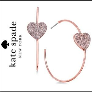 New Kate Spade everyday spade pave hoops